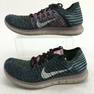 Nike Womens 7.5 Free RN Flyknit Lace Up Running Sh